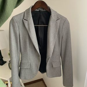 Express Gray Suit Jacket